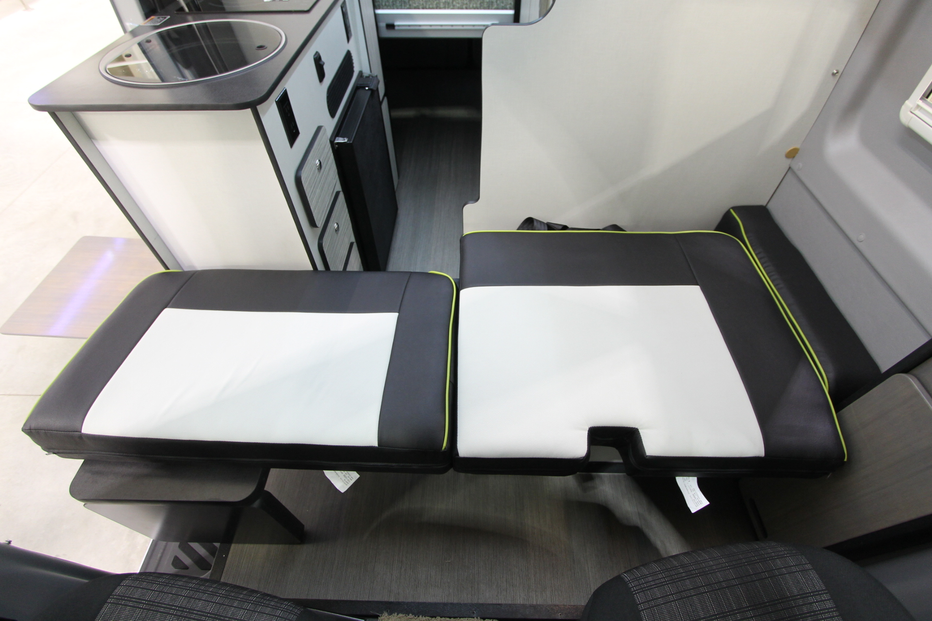 "3f80873c34 CLICK HERE to watch a video on how to convert the front ""seating area"" to a  front ""sleeping area"" with the Winnebago Flex Bed System in the Winnebago  Revel."