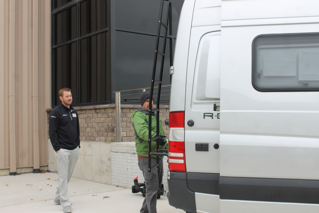 The Going RV Crew Takes a Break from Filming to Check Out the Winnebago Revel 4x4.