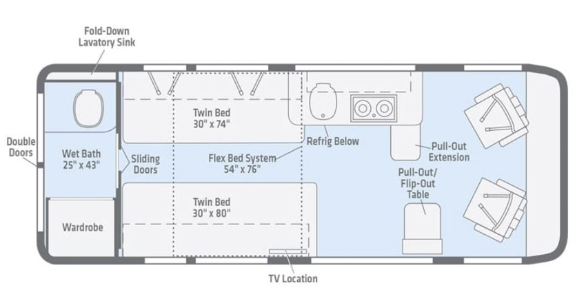 Travato 59KL Floorplan