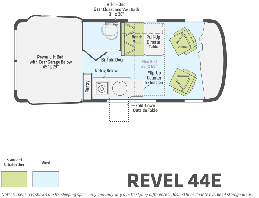 Winnebago Revel 44E Floorplan