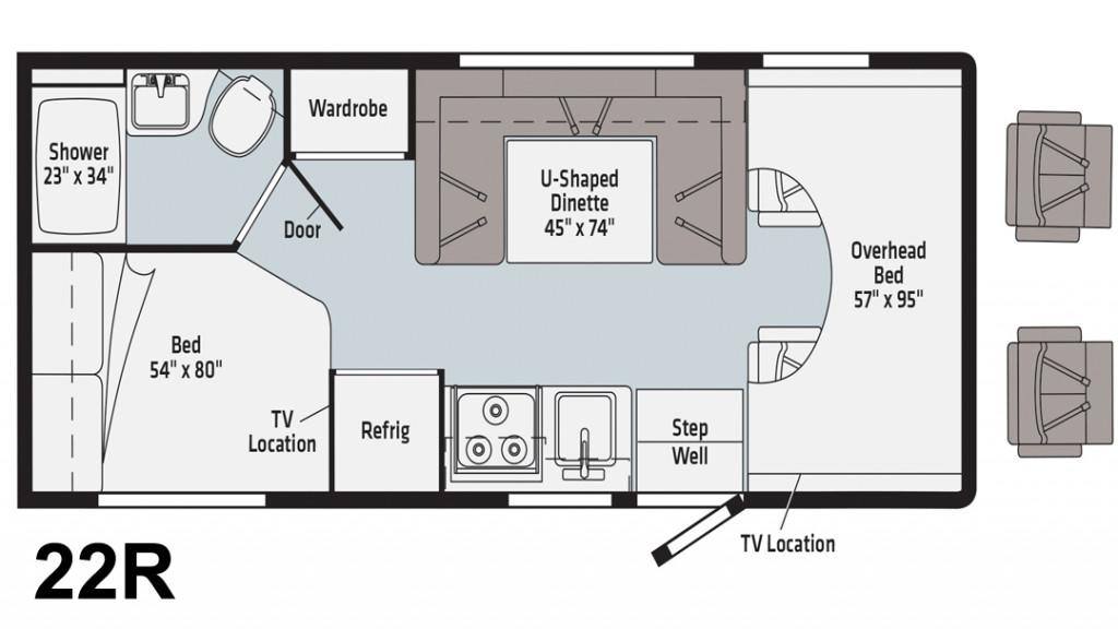 Winnebago Minnie Winnie 22R Floorplan