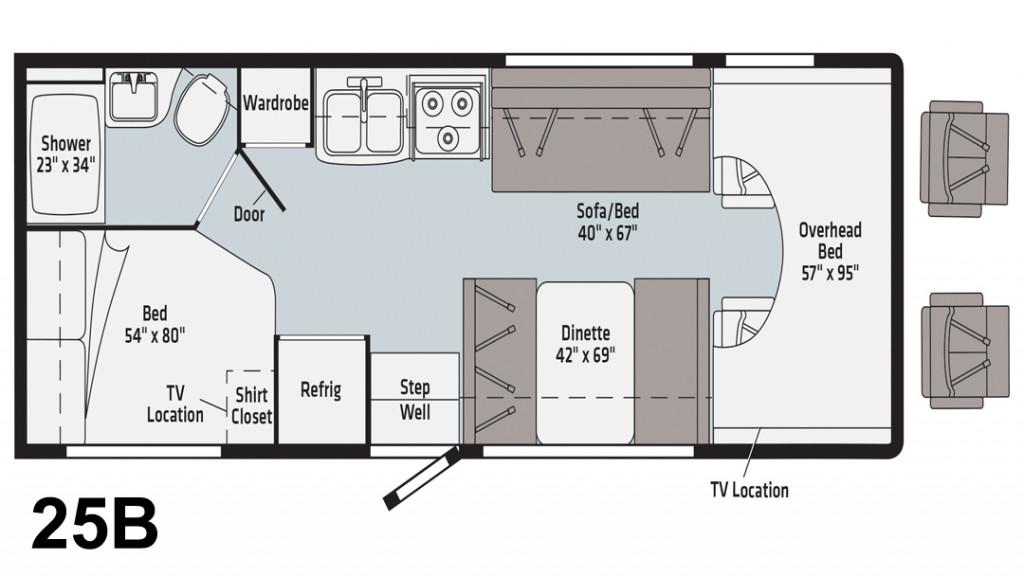 Winnebago Minnie Winnie 25B Floorplan