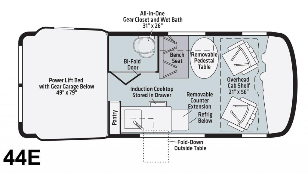 Winnebago Revel 44E Floorplan