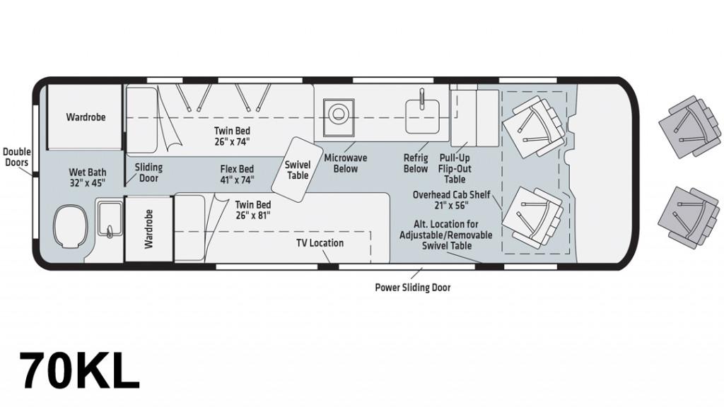 Winnebago Boldt 70KL Floorplan