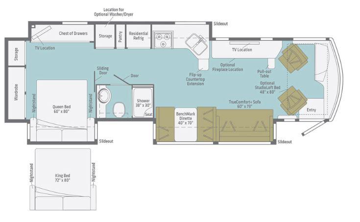 Winnebago Forza 36H Floorplan