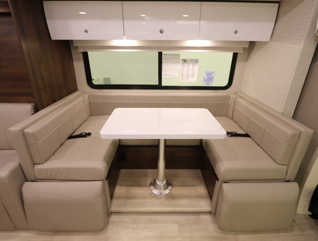 U-Shaped Dinette in the Winnebago View