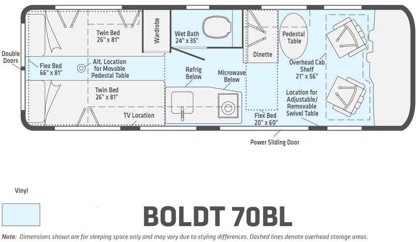 Winnebago Boldt 70BL Floorplan