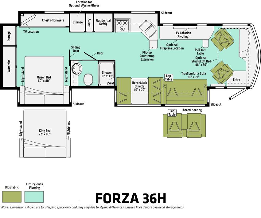 Forza 36H Floorplan
