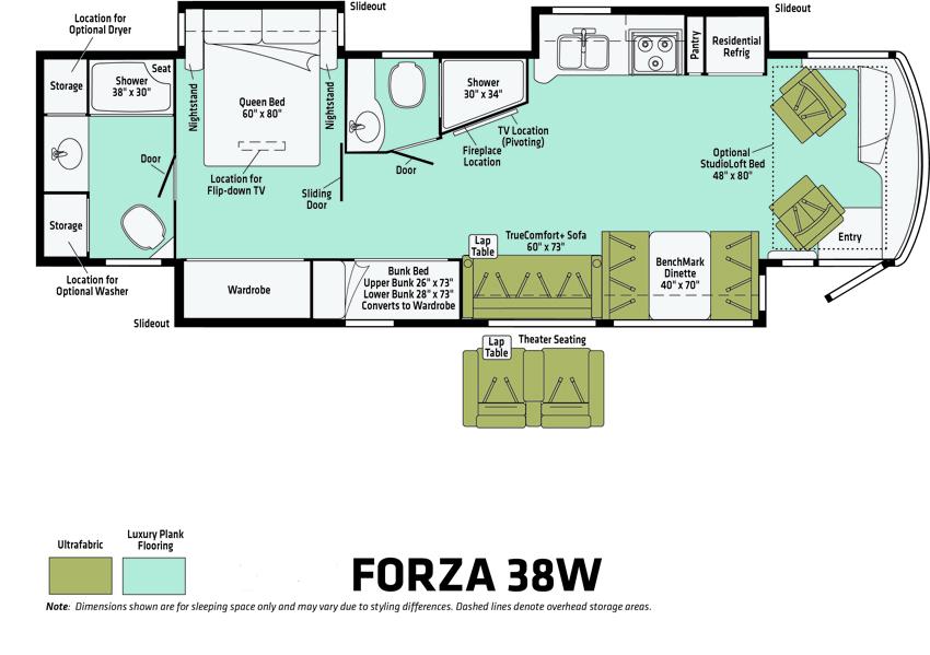 Forza 38W Floorplan