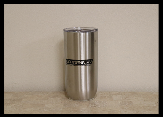 16 Oz. Lichtsinn RV Stainless Steel Tumbler with Lid - $13.00
