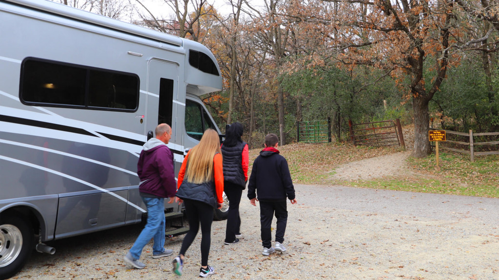Hiking in a Winnebago View