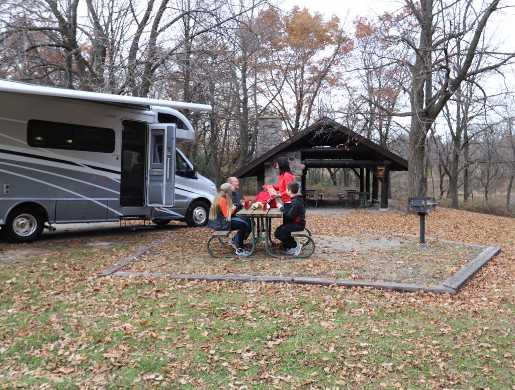 Winnebago View RVing in the Fall