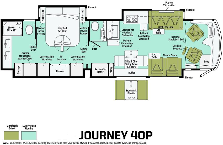 Winnebago Journey 40P Floorplan