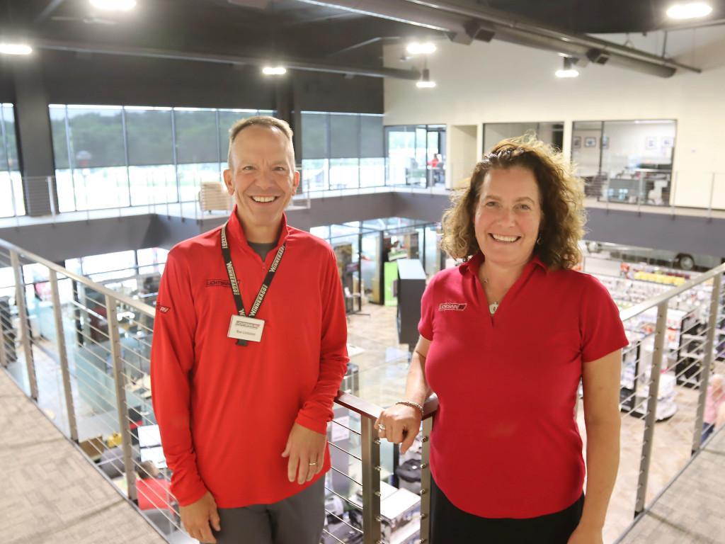 Ron and Hope Lichtsinn at Lichtsinn RV, July 2021.