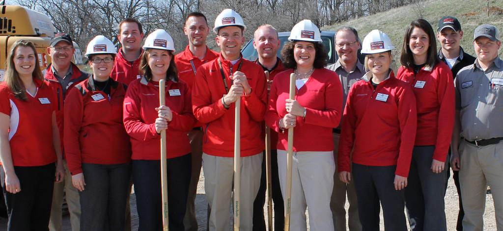 The Lichtsinn RV team breaks ground for the new RV facility in 2013.