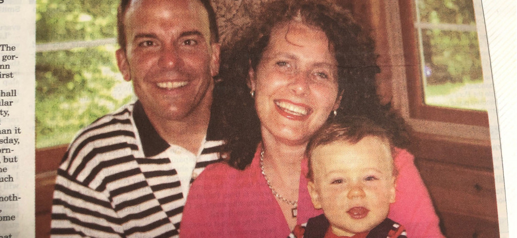 Ron and Hope Lichtsinn with their first son Ryland in 2001, the year Ron and Hope moved to Forest City to grow their family and business.