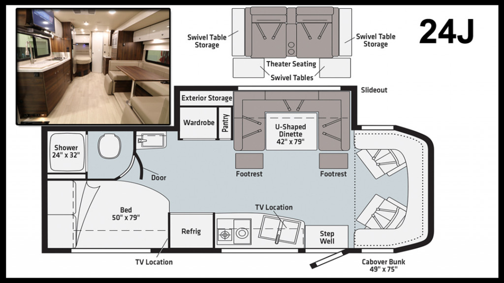 Winnebago View and Navion 24J Floorplan