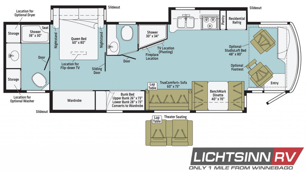 Winnebago Forza 38W Floorplan