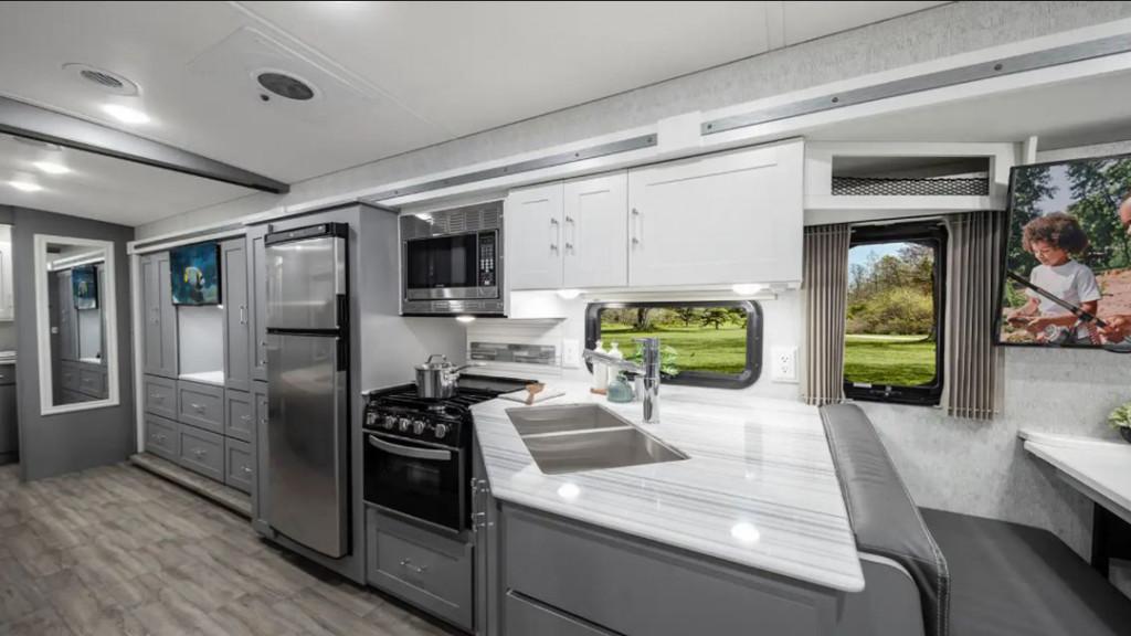 Winnebago Vista and Winnebago Sunstar 33K Kitchen